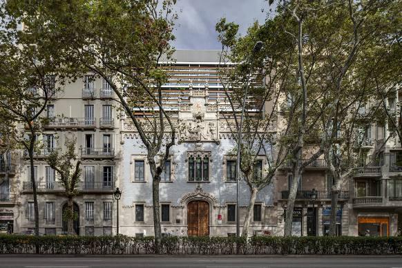 La Casa de la Lactancia sulla Gran Via, a Barcellona.